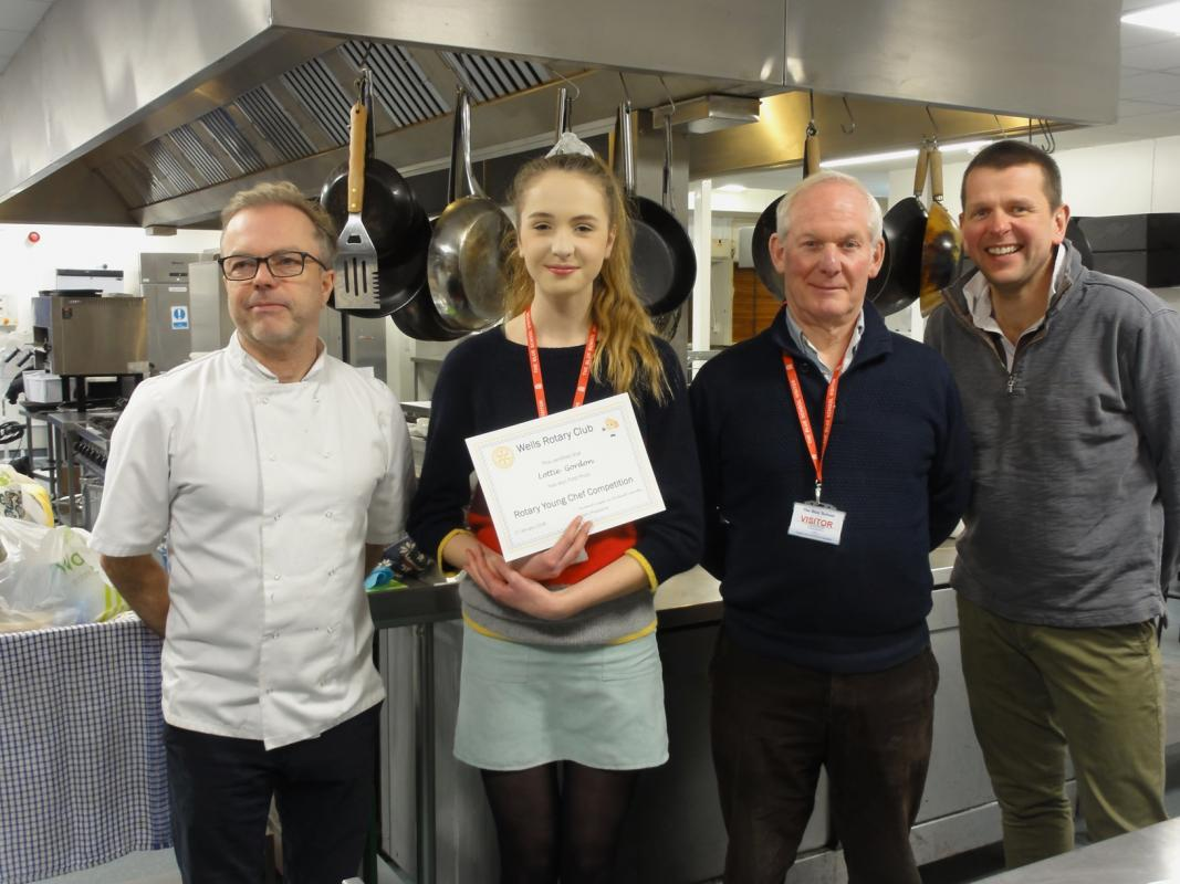 Rotary Young Chef 2018 - The judges congratulated her on her cooking skills, and wished her success in the next round of the competition.