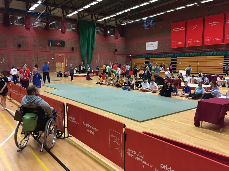 The Welsh Amateur Gymnastics Association Competition  - The Hall and Competitors
