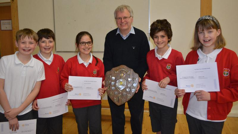 2016 Primary Schools Quiz. - The winning team.