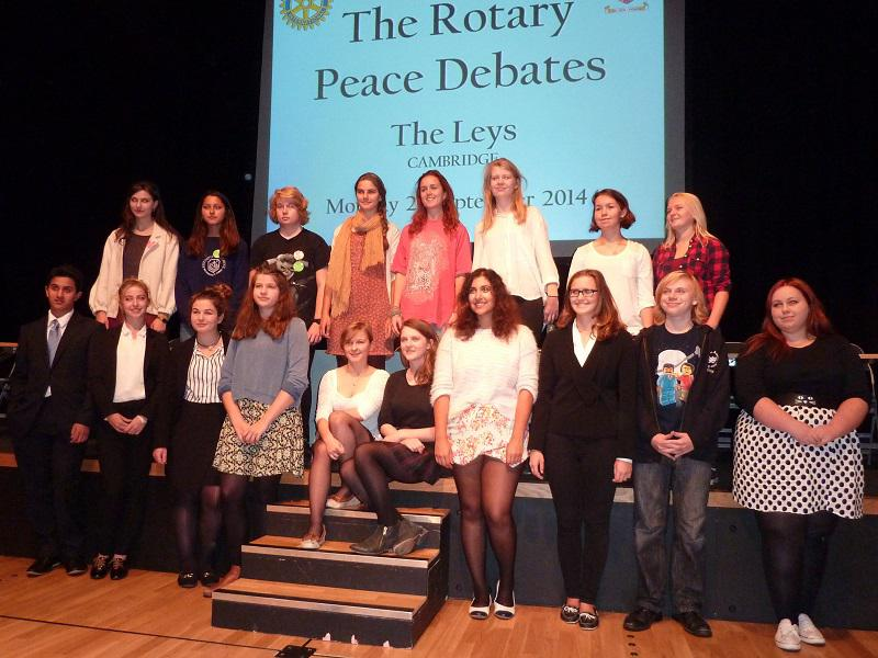 Sep 2014 Public Peace Debates - Everyone Welcome - the Leys School 4pm - .