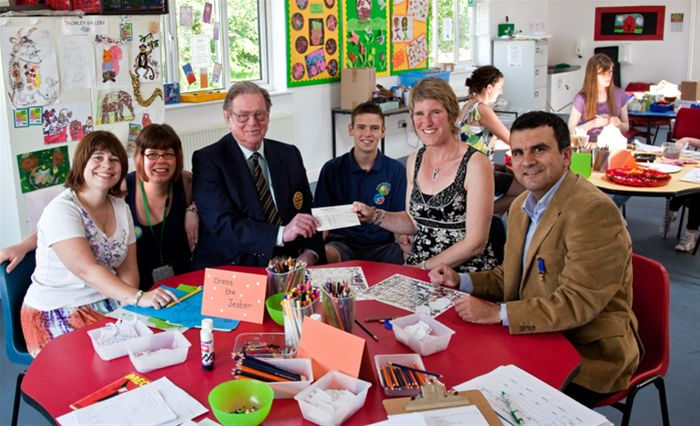 Cheque presentation to 2008/2009 charities -