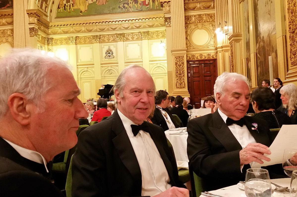 Foundation Centenary Dinner - Andy Donaldson, John Papworth and John Fisher at the Dinner