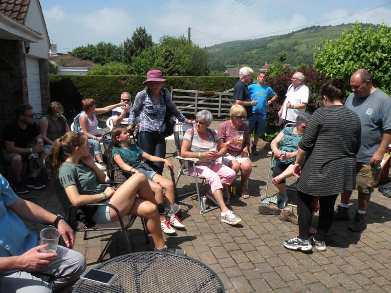 CHARITY WALK 2018 - Families sat down to relax after their exertions