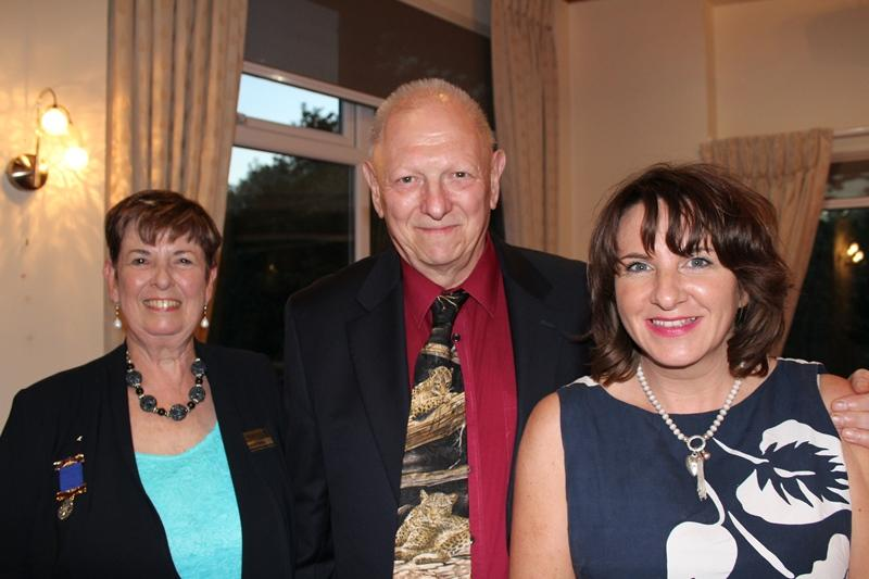 Ross Rotary Club Handover Dinner - Tina presented Vicky with £3000 and her partner Mansell gave another £1000