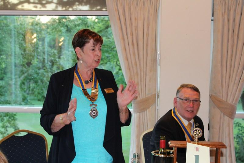 Ross Rotary Club Handover Dinner - Tina's presentation