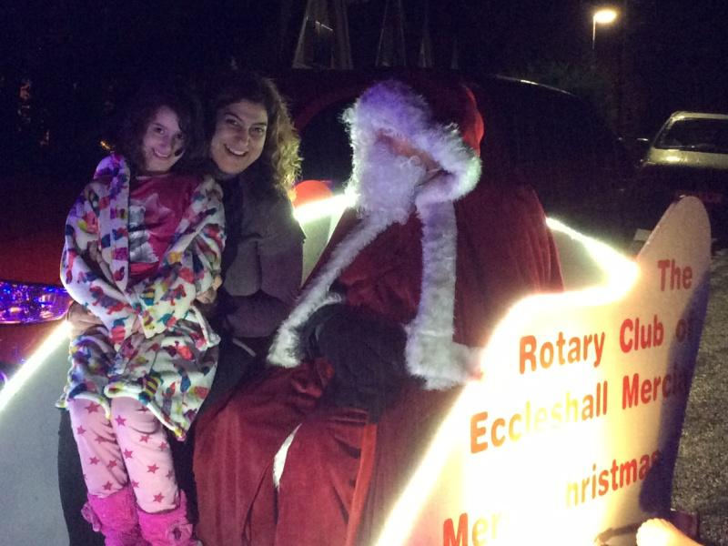 Santa's Visit to Eccleshall area December 2017 - Santa chats with some locals