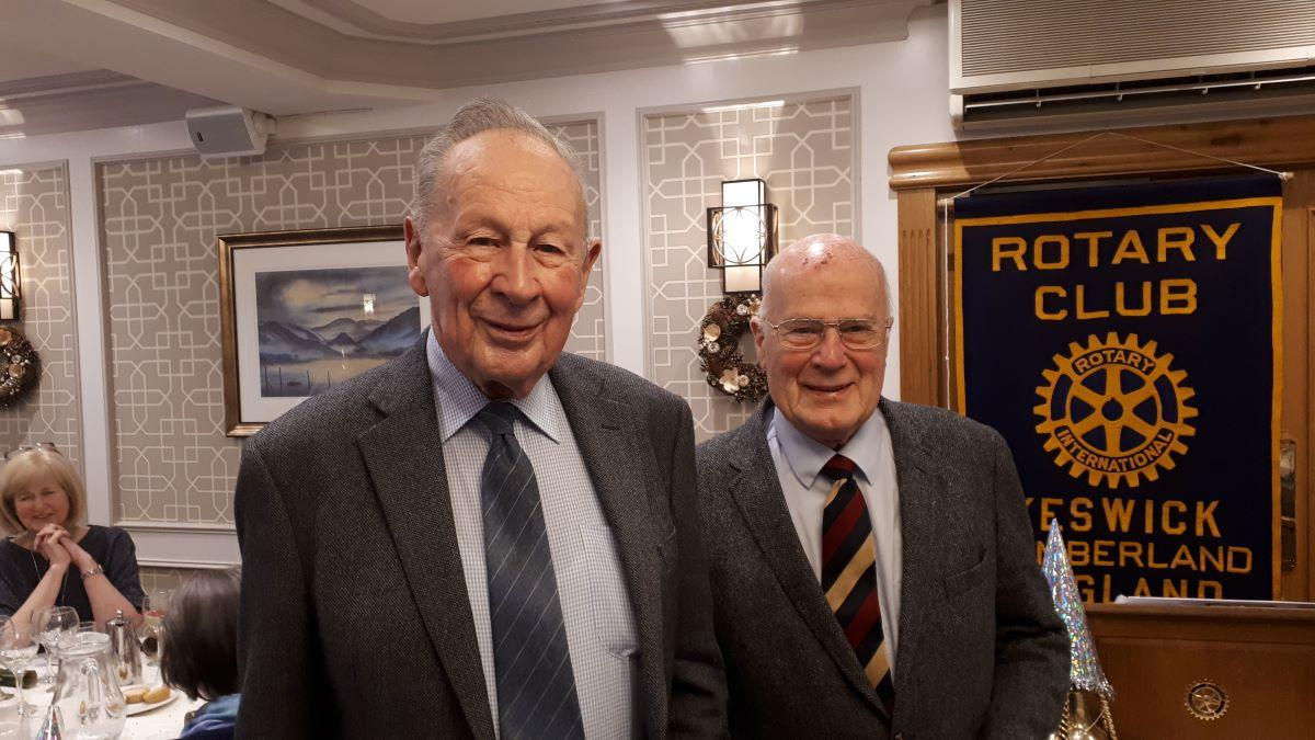 Tony Gibbs and Dr Tom Donaldson  - Tony Gibbs and Dr Tom Donaldson celebrate 100 years of Rotary membership