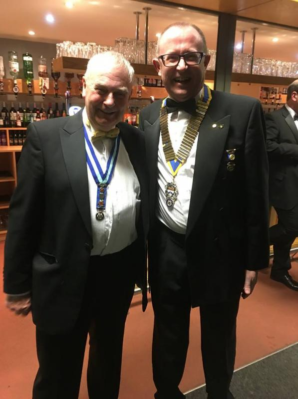 Nantwich Rotary Charter Night - Tony Cotton & Alastair Bain