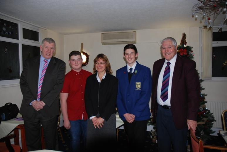 RYPEN - 2015 - Tony, Max, Headteacher Lynette Norris , Liam and Jeff Meadows.