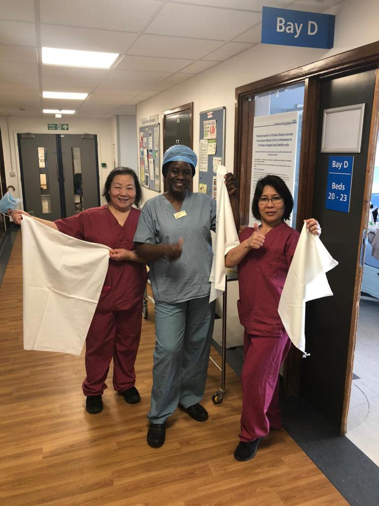 Laundry bags for Renal Unit St. George's Hospital Tooting - Helping the NHS