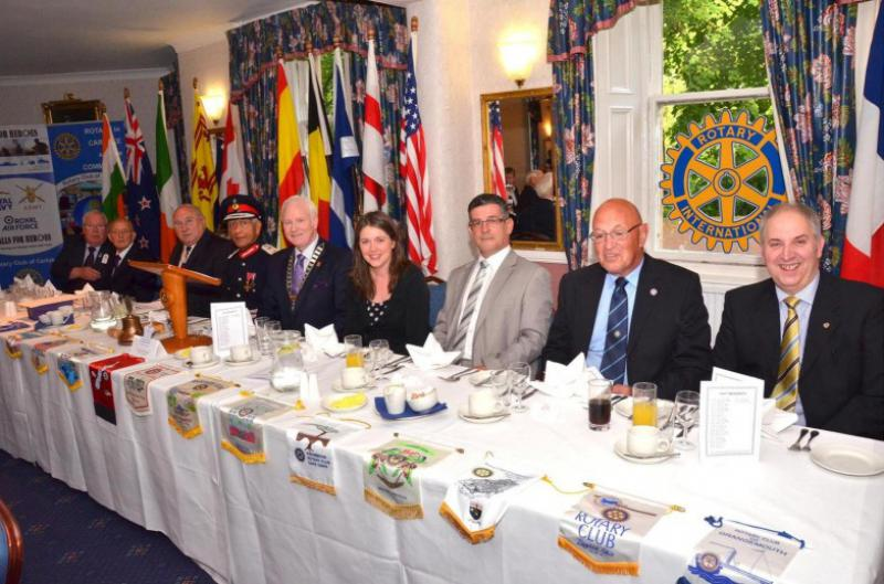 Rotary Club of Carluke - Queens Award Top table seated Group, Sponsors & Guests