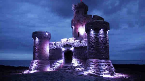 End Polio Now - Tower of Refuge bathed in purple for End Polio week