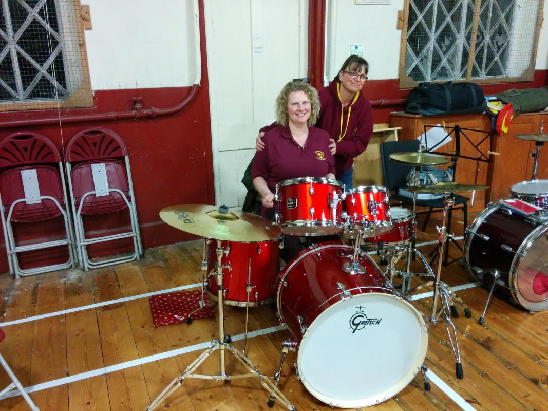 Photo Gallery - New drum kit for Wareham Town Band purchased with donation from Wareham Rotary
