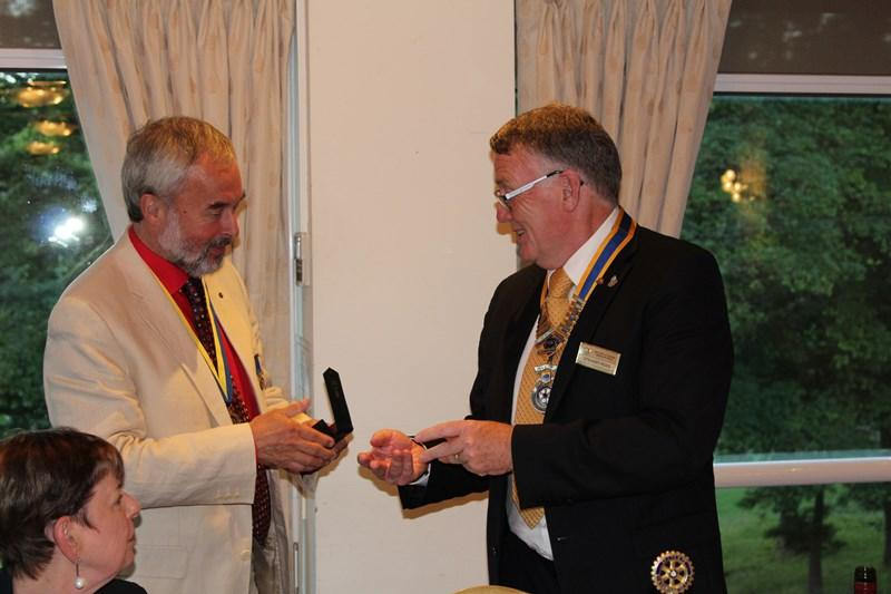 Ross Rotary Club Handover Dinner - Treasurer Brian R