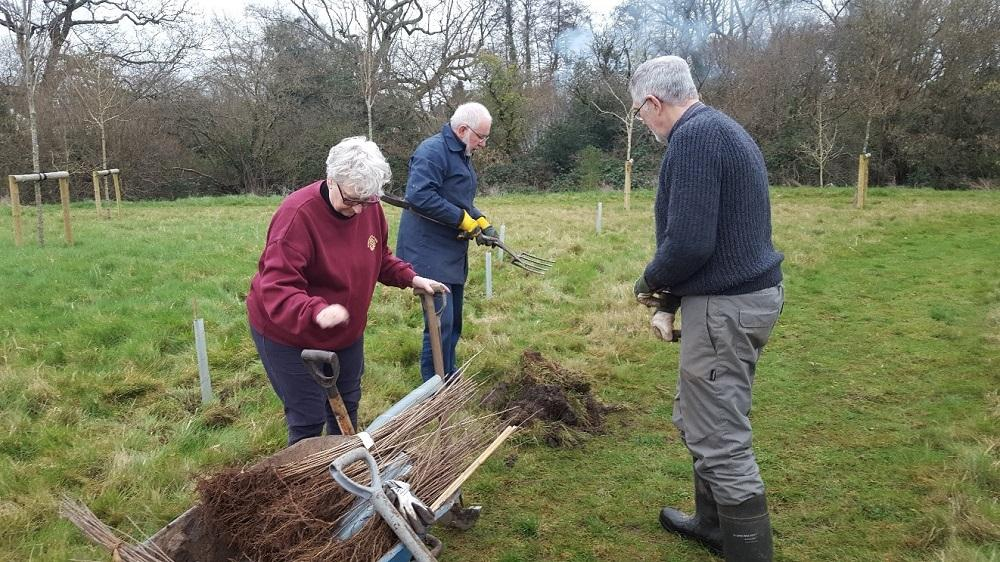 Supporting the ENVIRONMENT- Tree planting at Otterbourne Hill -