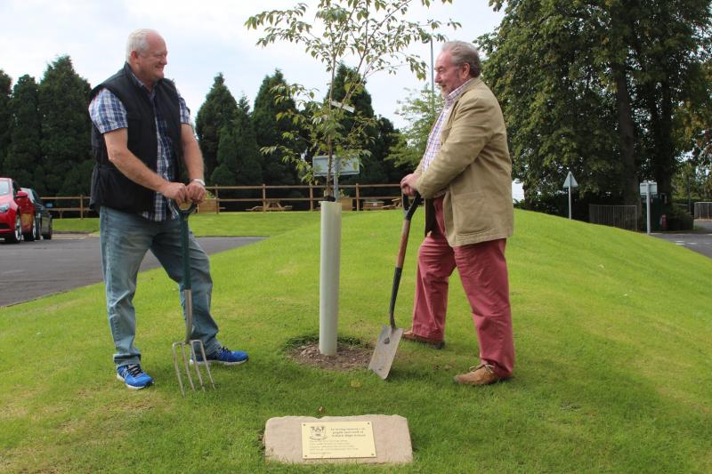 Youth 2015 - 2016 - Tree planted by The Rotary Club of Selkirk members Adam Borwick and John Pack.