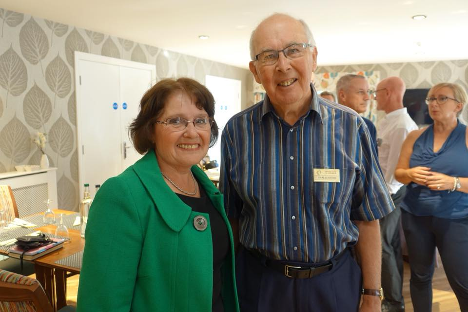 Chartering of Wych-Malbank Nantwich Rotary Club - Two Treasurers Wendy Beastall and John Meadows