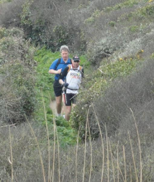 Marathons on South West Coastal Path - In the long grass on the coastal path