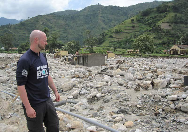 ShelterBox Disaster Response - Response team member assesses the situation