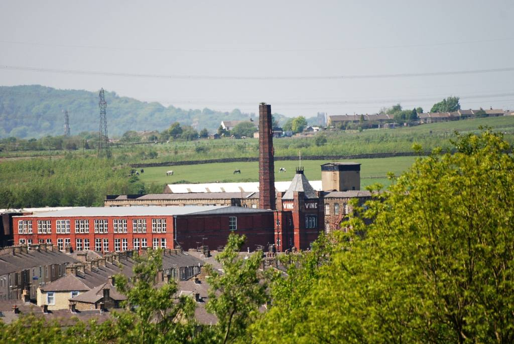Views around Church and Oswaldtwistle - Vine Mills  former cotton spinning mill. Now retail unit: