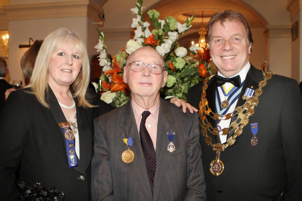 Cheltenham North Charter Anniversary Dinner 26th April 2012 - Victoria Burman Jim Readings and Ray Burman