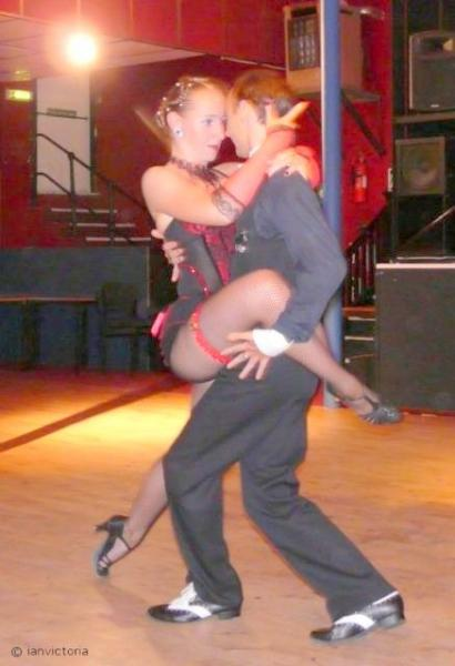 Strictly Come Rotary Dance Competition - British Champions Victoria Lawrence and Ian Sharpe gave stunning demonstration dances including this Argentine Tango