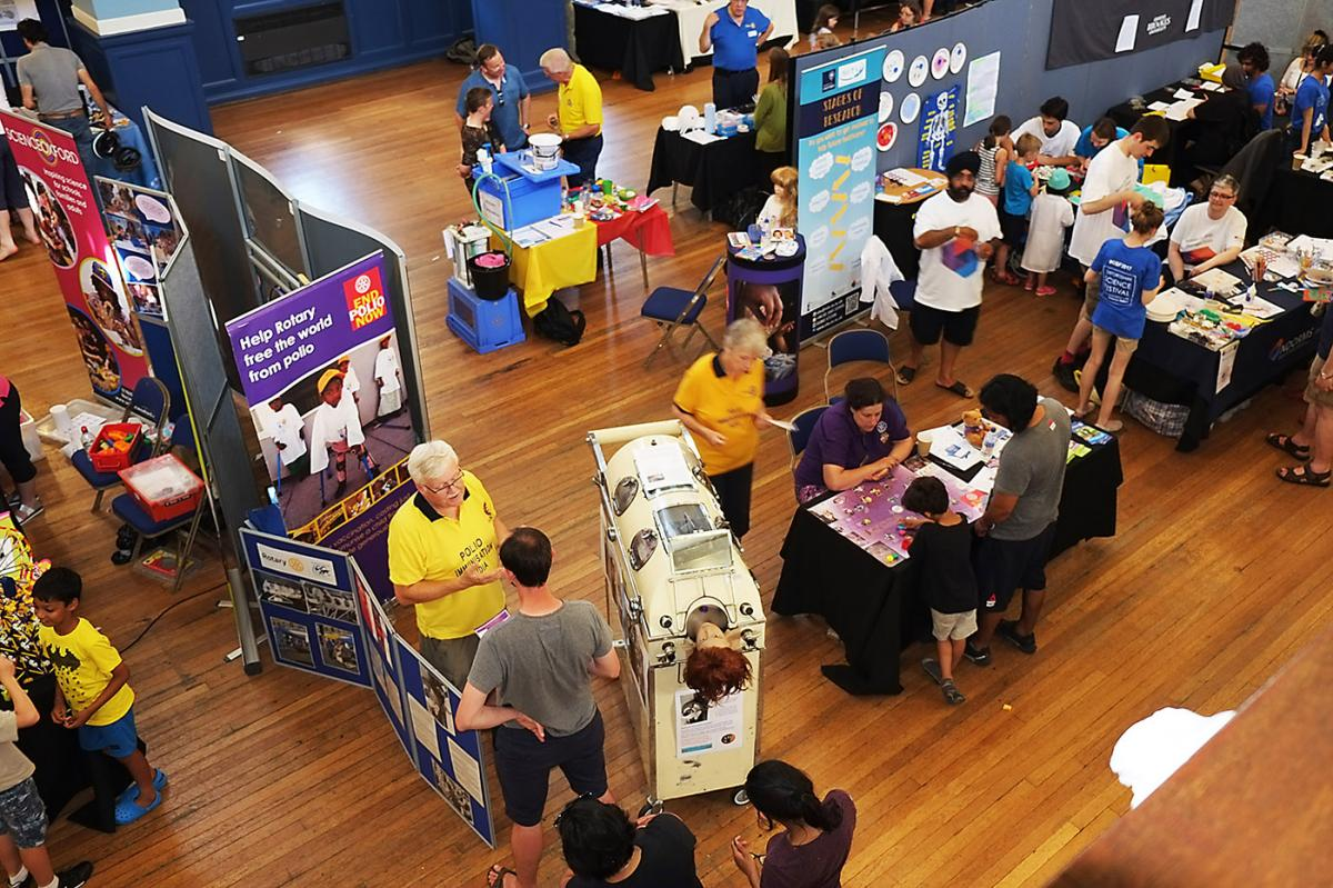 Turning Purple for Polio at Oxfordshire Science Festival - Busy to the end. Exciting to meet so many interesting people. Thanks so much to the team, organisers and visitors. Science is alive and kicking, 'doing good in the world'!