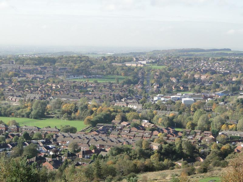 Local Area Information - View of Shaw looking towards Royton