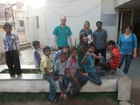 Ben's GSE visit to India - Visiting a childrens home in Ahmedabad