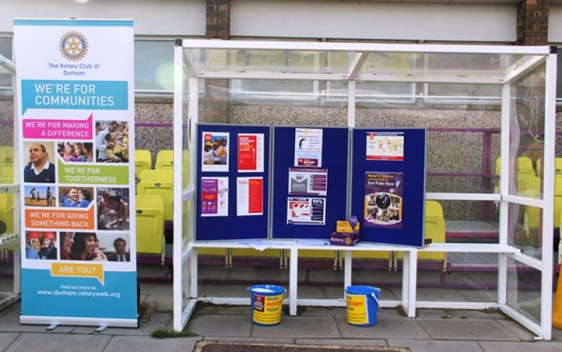 A Walk to End Polio  - To make sure everyone knew what it was all about, we set up a display by the side of the track.