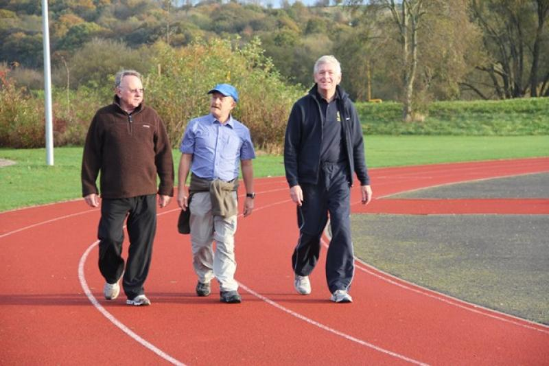 A Walk to End Polio  - ... they were joined by Geoff Pratt - three Presidents together ...