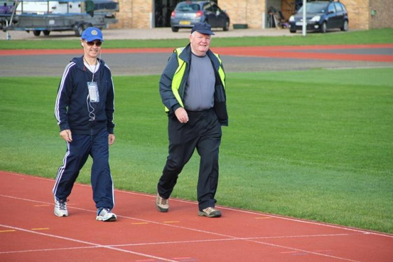 A Walk to End Polio  - who was able to match Dennis's pace ...