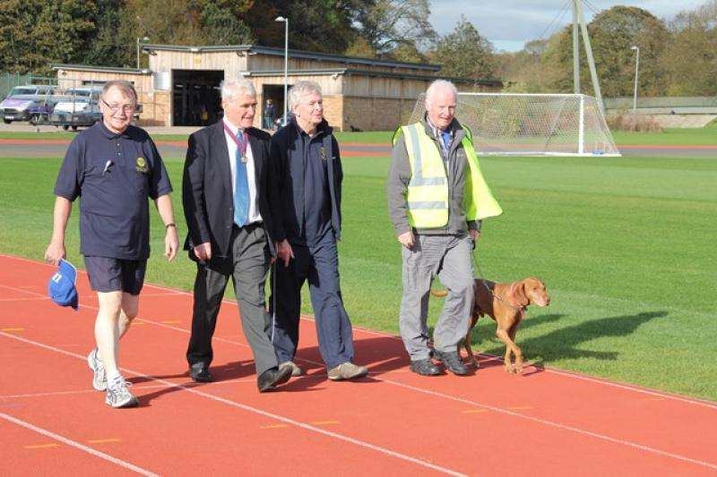 A Walk to End Polio  - Early afternoon and David and Ed were joined by Deputy Mayor Patrick Conway - a member of our Club - and Gordon Bacon, a member of the Bede Club.