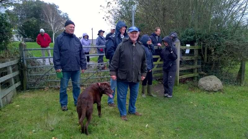 Rotary Walk from the Admiral Nelson in Braunston - but who's that cold and huddling in the background