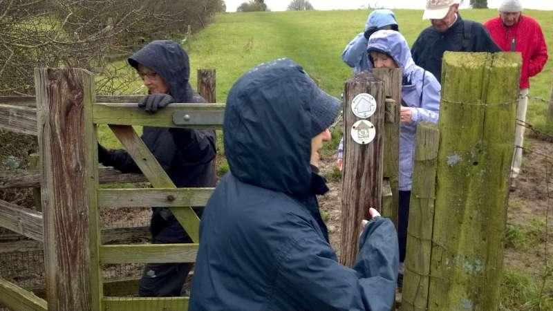Rotary Walk from the Admiral Nelson in Braunston - ..and all dressed now for the inclement weather