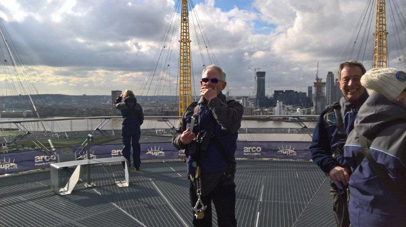 Rotary Climb The O2 as we celebrate Rotary's 111th Birthday -