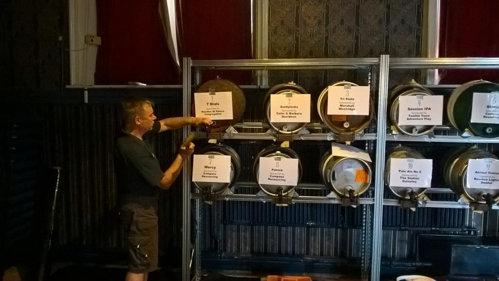 Inaugural Aireborough Beer festival - Magician at work