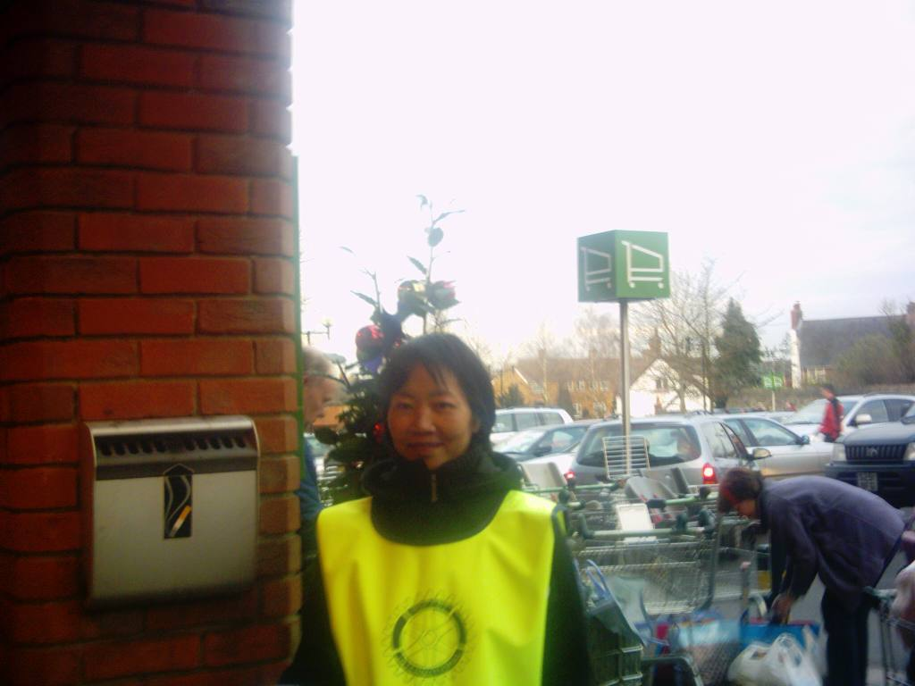 Waitrose Collection December 2005 - Sylvia collecting