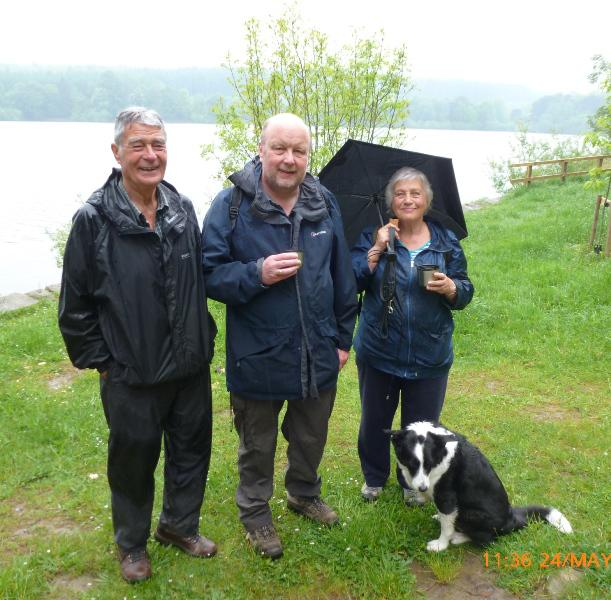 Fewston/Swinsty the four day walk - The final quartet Patrick, Graham, Doreen and the faithful Barney completing his second year