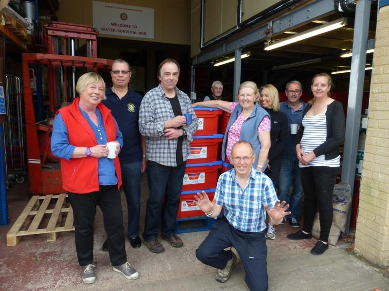 £3,000 donation for Water Survival Boxes to send to Nepal earthquake disaster - Water Boxes 2