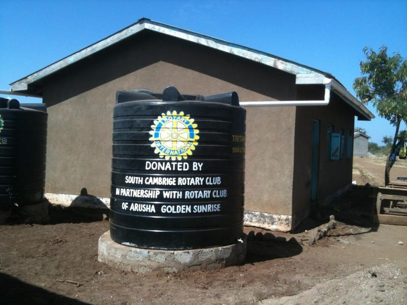 Mar 2013 Auction in aid of the Naalarami School, Tanzania 6.30pm - NEW Water tank with Club acknowledgement.