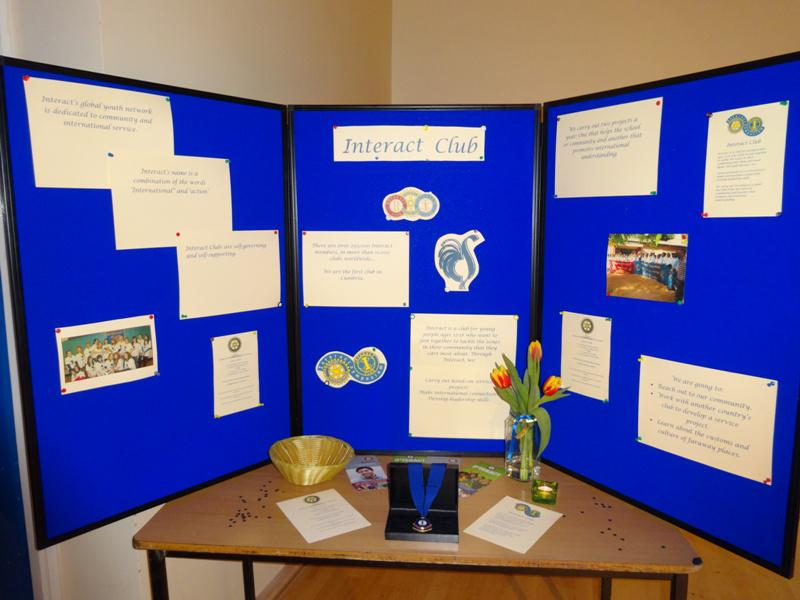 Interact Clubs in Cumbria & Lancashire - Interact display boards