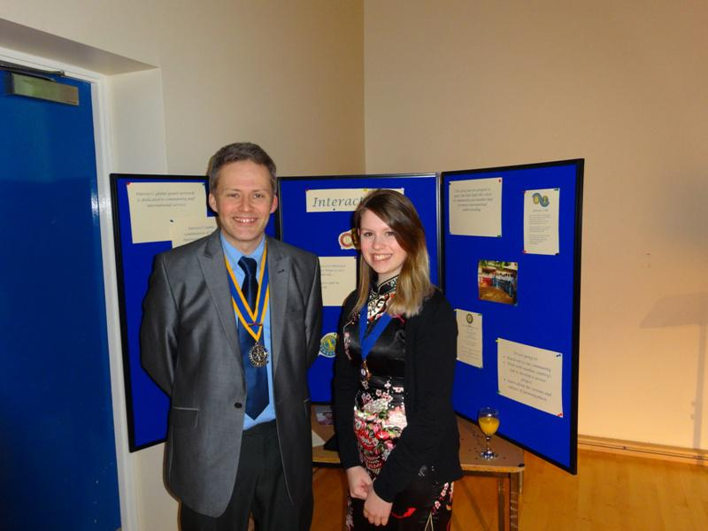 Interact Clubs in Cumbria & Lancashire - Presidents Andrew Bailey & Mikaela Dawson