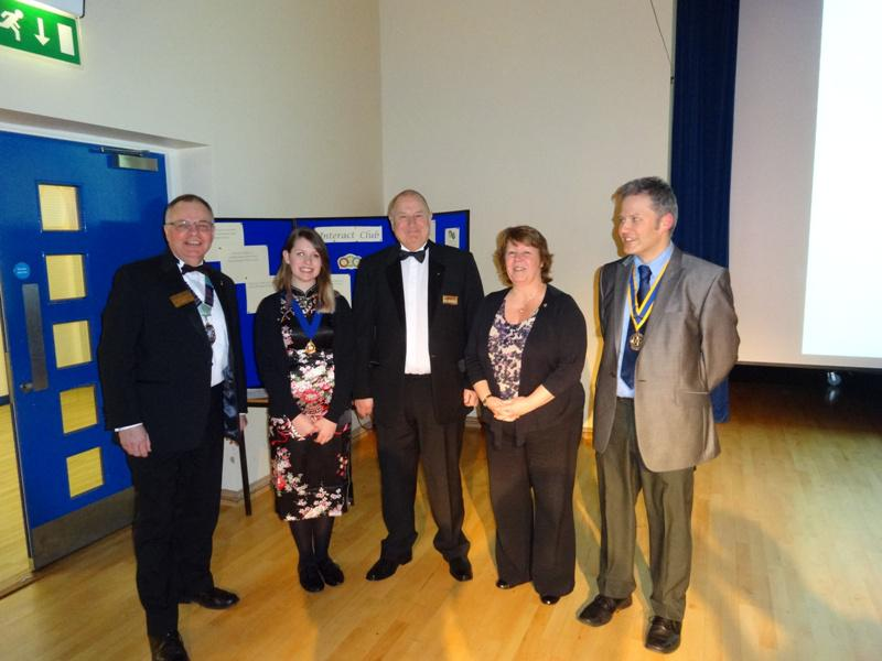 Interact Clubs in Cumbria & Lancashire - President Mikaela Dawson with Rotarians