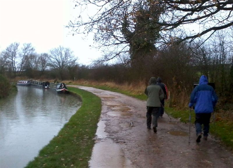Club Walk - Leaving the Wharf Inn in the pouring rain