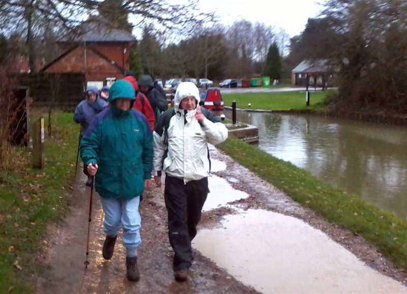 Club Walk - It really was raining hard, but Rotarians are stoics