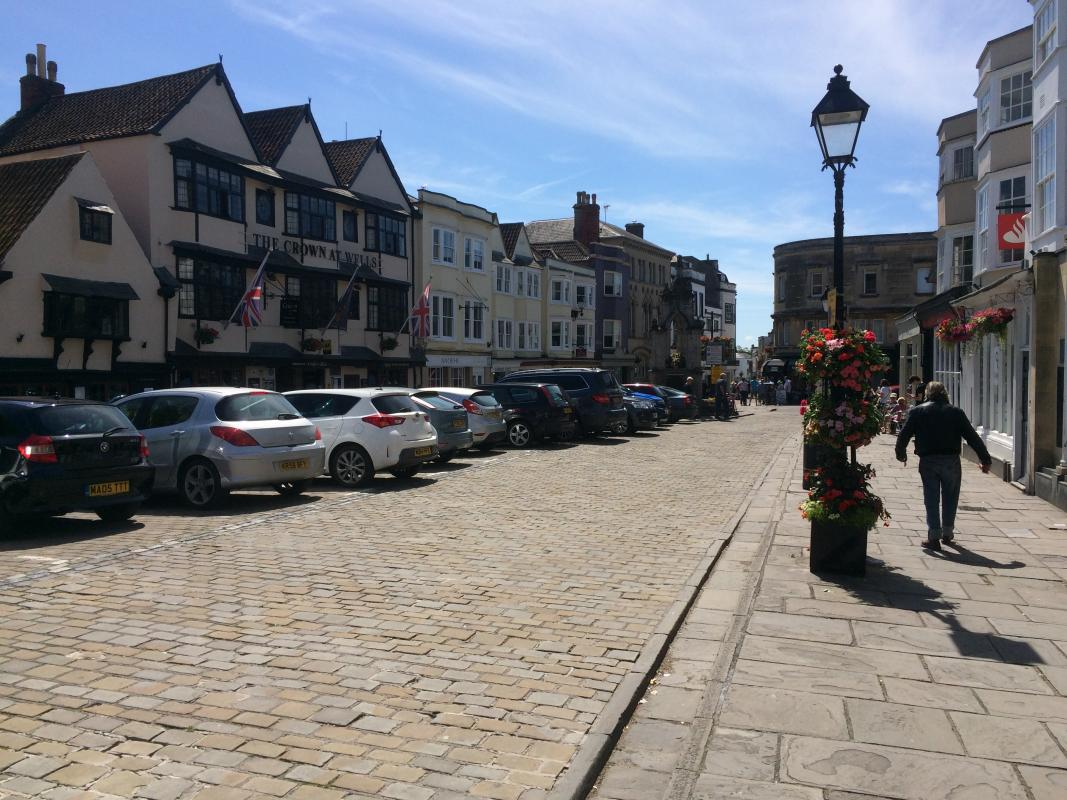 An Afternoon listening to Music in Wells -