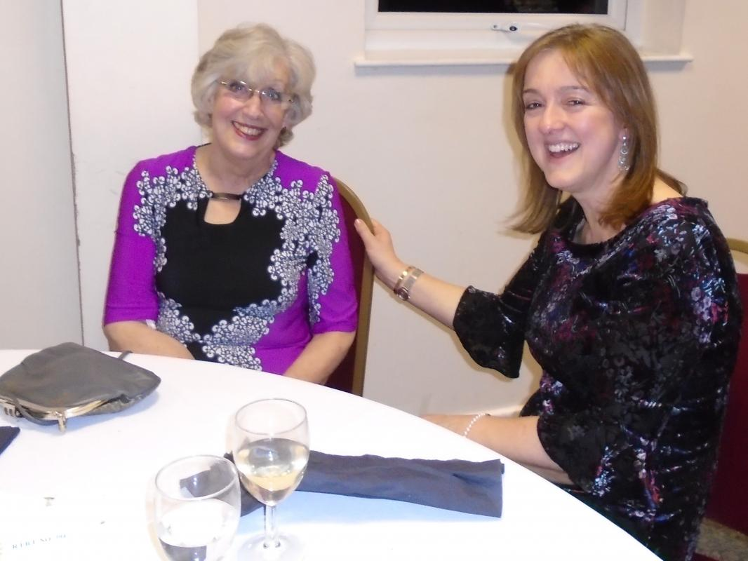 Nantwich Rotary 85th Charter Night - Wendy Hughes with Karen Morgan-Wynne