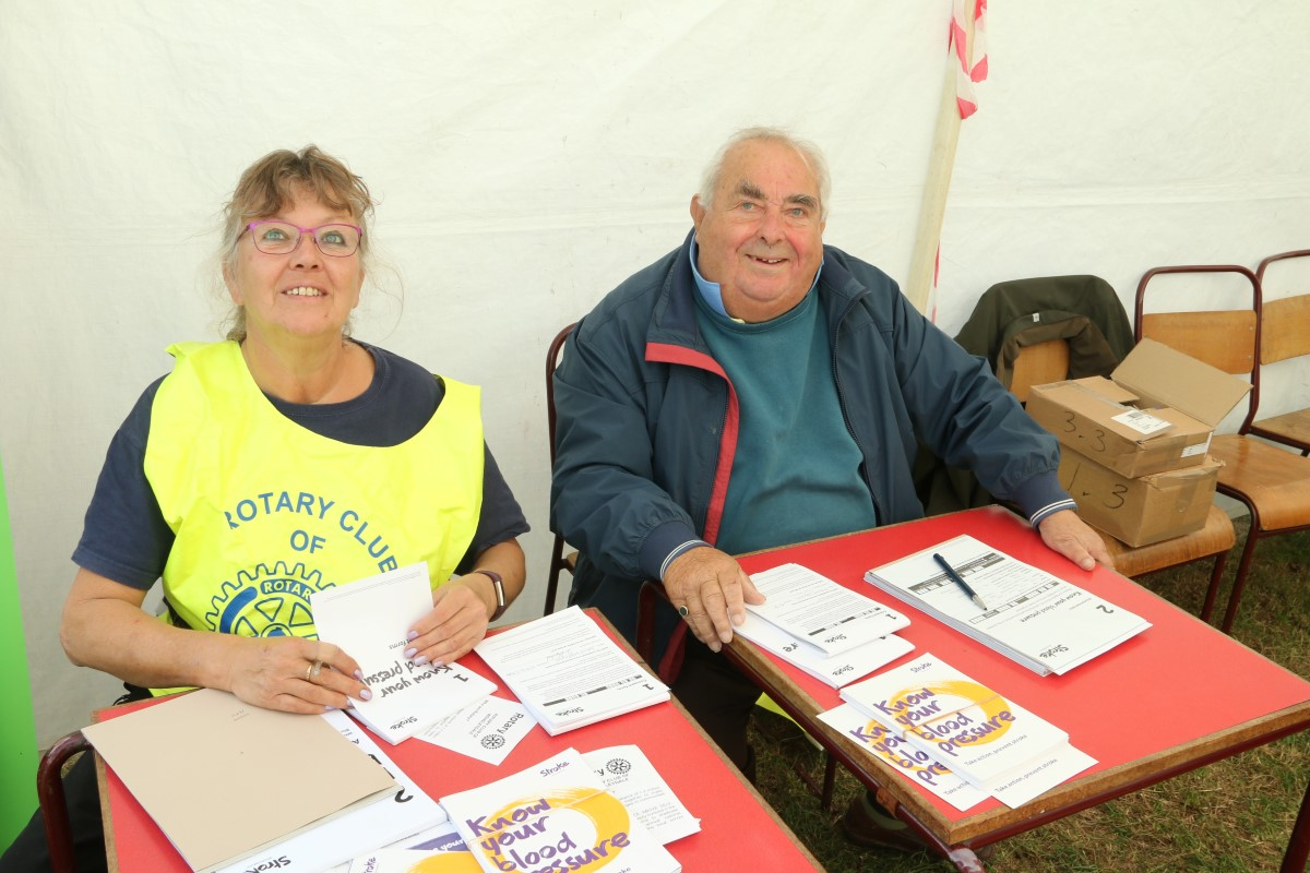 Blood Pressure Screening at Wensleydale Show 2018 - Susan & Phil do the clerical work