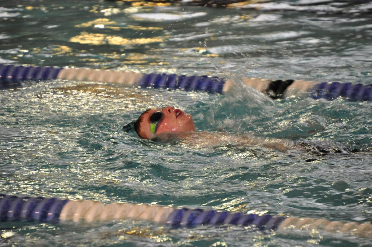Purley Swimathon 2018 - Pictures - Backstroke in action.